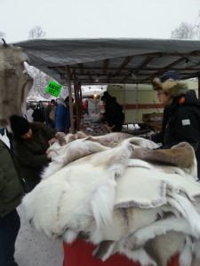 Asbjörns favoritsyssla: Sälja Renskinn:-)